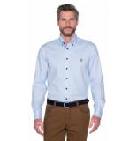 Campbell Casual overhemd met lange mouwen licht blauw