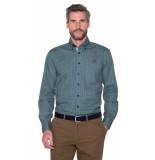 Campbell Casual overhemd met lange mouwen groen