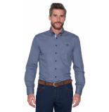 Campbell Casual overhemd met lange mouwen blauw