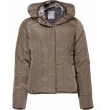 Geisha 98511-11 nylon jacket high collar taupe