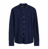 Scotch & Soda knitted shirt blauw
