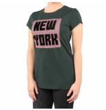 Nikkie New york t-shirt groen