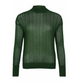 Numph Numietta LS Pullover groen
