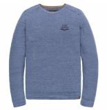 PME Legend Crewneck cotton mouline true navy blauw