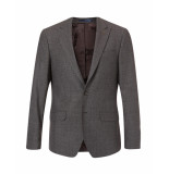 Bertoni of Denmark Blazer modern tweedlook grey grijs