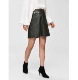 Selected Femme 16067934 slfmina hw leather skirt b groen