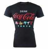 Coca-Cola Cola heren tshirt ronde hals drink tokyo zwart