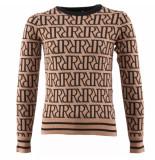 Reinders Rr print sweater bruin