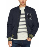 Tommy Hilfiger Quilted bomber navy blauw