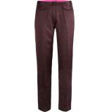 10 Feet Tailored pants in flowy logo print plum rood