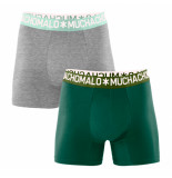 Muchachomalo Boys 2-pack short solid groen