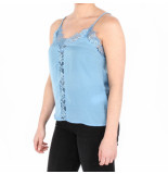NA-KD Lace front singlet blauw