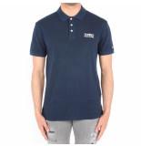 Tommy Hilfiger Logo garment dye polo blauw