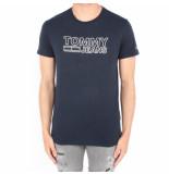 Tommy Hilfiger Contoured corp logo tee blauw