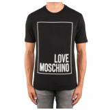 Love Moschino Reg mc t logo box zwart