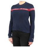 Tommy Hilfiger Tjw tommy logo stripe sweater blauw
