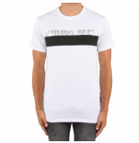 Philipp Plein T-shirt platinu cut round neck wit