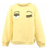 Chiara Ferragni Sweatshirt kids flirting geel