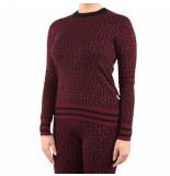 Reinders Rr print sweater rood