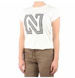Nikkie N printed logo t-shirt beige