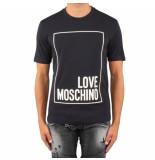 Love Moschino Reg mc t logo box blauw