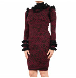 Reinders Arie ruffle dress rr rood