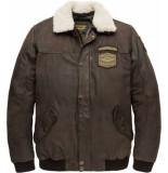 PME Legend Flight jacket boston badges 2.0 chocolate torte bruin