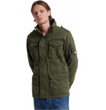 Superdry Classic rookie 4 pocket jacket deep depths groen