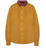 10 Feet Luxurious silk blouse pintucks amber geel