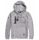 Superdry Supersoft oversized graphic hoodie grijs