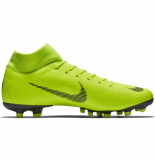Nike Mercurial superfly 6 academy fg mg volt black geel