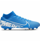 Nike Mercurial superfly academy 7 fg/mg blue hero blauw