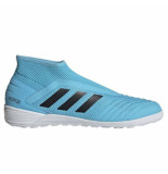 Adidas Predator 19.3 laceless indoor bright cyan black blauw
