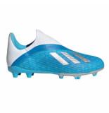 Adidas X 19.3 laceless fg bright cyan blauw