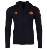 Umbro Psv pro fleece trainingsjack kids oranje zwart