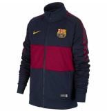 Nike Fc barcelona trainingsjack i96 kids obsidian red blauw