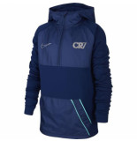 Nike Cr7 dry repellent drill hoodie kids blue void