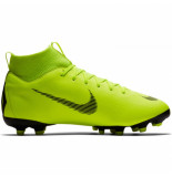 Nike Mercurial superfly 6 academy kids fg/mg volt geel