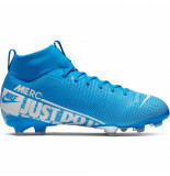 Nike Mercurial superfly 7 academy fg/mg kids blue hero blauw