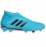 Adidas Predator 19.3 laceless fg kids cyan blauw