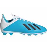 Adidas X 19.4 fg kids bright cyan white blauw