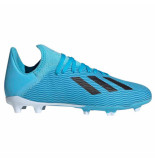 Adidas X 19.3 fg kids bright cyan white blauw