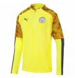 Puma Manchester city fc trainingstop 1/4 rits yellow grijs