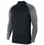 Nike Dry strike drill top black grey zwart