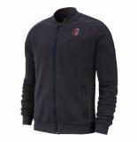 Nike Paris saint germain fleece trainingsjack grijs