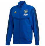 Adidas Manchester united trainingsjack 2019-2020 blue blauw