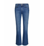 Mos Mosh 127030 percy frill flare jeans blauw