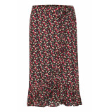 Soaked in Luxury 30404070 sx pernille flower skirt 42004 navy with flowers