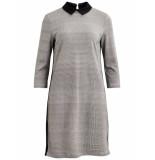 VILA 14050348 vicollar 3/4 dress black/white check
