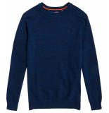 Superdry Orange label cotton crew ocean city blue grindle blauw